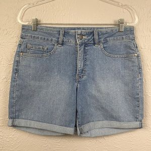 RIDERS by Lee Cuffed Mid Rise Jean Shorts Size 10